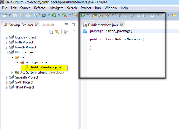 how to create an instance variable in java